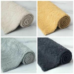 100% Cotton Bath Mat Ultra Soft and Absorbent Shaggy Rugs Bathroom Mat 50 x 80CM