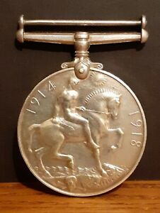 WW1 Silver British War Medal - Nov 1918 Killed In Action The Buffs / East Kent