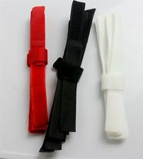 VELCRO TIES PACK OF 10  COLOURED TOUCH AND CLOSE VELCRO TIDY STRIPS
