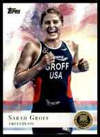 2012 TOPPS OLYMPICS GOLD SARAH GROFF TRIATHLON #72 PARALLEL