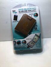 RFID BLOCKING Slimline Wallet Brown Leather Total Vision Products NIB !
