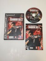 Tom Clancy's Rainbow Six 3 For PlayStation 2 PS2 6 Very Good Free Fast Shipping