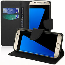 Etui Coque Housse NOIR Portefeuille Silicone PU Samsung Galaxy S7 Edge G935F
