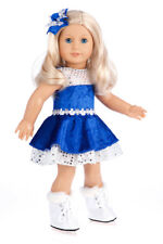 Ice Dancer - Doll Clothes for 18 inch American Girl, Ice Skates, Leotard Skirt