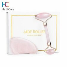 Jade Rouleau Masseur Rose Pierre Amincissant Anti Cellulite Ride Soin Peau