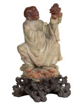 China 20. Jh. Mönch A Chinese Soapstone Figure of a Buddhist Monk Chinois Cinese