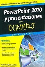 PowerPoint 2010 y presentaciones para Dummies. ENVÍO URGENTE (ESPAÑA)