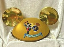 Vintage Walt Disney World Gold Mickey Mouse Ears 50 Celebration Parade