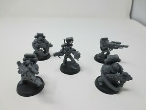 Warhammer 40K Space Wolves Long Fang Devastator Squad x 5 Marines Unpainted G285