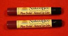 Naked Bee 2 sticks Plum Orchid Lip Color All the Good Stuff Natural Organic