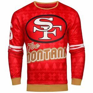 NFL Men's San Francisco 49ers Joe Montana #16 Retired Player Ugly Sweater
