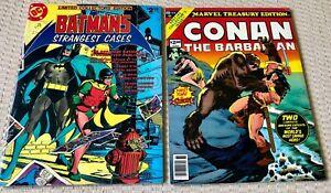 Marvel Treasure Edition CONAN & Batman's Strangest Cases Oversized 1978 Comics