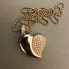 1 New Novelty Silver Coloured Heart, 4GB USB Flash Drive Memory Stick