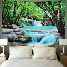 Forest Creek Tapestry Nature Print Wall Hanging Bedspread Tapestries Home Decor