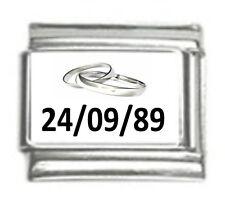 9mm italiano encantos L88 13TH 13 Cumpleaños Feliz se Ajusta Tamaño Clásico Pulsera