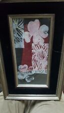 SIGNED VINTAGE ARTWORK Rodney Davis,  ORIGINAL linoleum Mono print