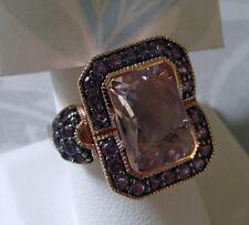 SIMA K Rose de France Purple Amethyst Rose Gold Vermeil Ring Size 9