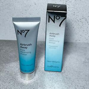 BNIB No7 Airbrush Away Pore Minimising Primer 30ml Make Up Base