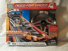 mega bloks #95716 need for speed porsche 911 turbo wheel launcher in the box new