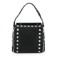 Ladies Studded Bag Women's Long Half Chain Messenger Crossbody Bags New UK