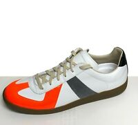 MAISON MARGIELA Men's Replica Sneakers Size 10 / 43 White & Orange - New - $620