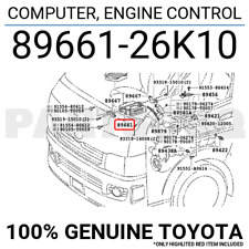 8966126K10 Genuine Toyota COMPUTER, ENGINE CONTROL 89661-26K10
