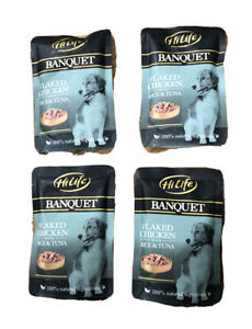 Dog Food Flacked Chicken Hi Life With Rice & Tuna 4 x 100g Pouches