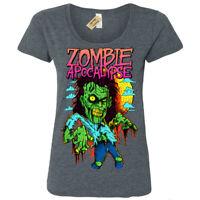 Zombie Apocalypse T-Shirt Womens Ladies Scoop