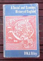 A SOCIAL AND ECONOMIC HISTORY OF ENGLAND BY P.W.J. RILEY 1980 PAPERBACK BOOK