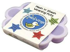 Silicone Baby Food Freezer Storage Container Trays w. Lids Mash'n'Stash Bpa Free
