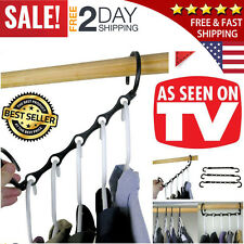 Wonder Hanger Max Closet Space Saving As Seen On Tv Magic Hangers Rack - 10 Pack