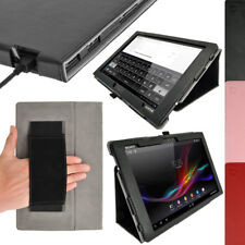 """PU Leather Folio Skin Case Cover Holder for Sony Xperia Tablet Z 10.1"""" Tablet"""