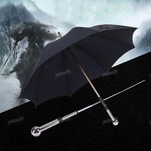 Sword Umbrella Long-stem HQ Anime Black Creative Defensive Swordman Rain Gift Ne