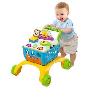 Bright Starts Giggling Gourmet 4-in-1 Shop 'n Cook Baby Toddler Walker Toy
