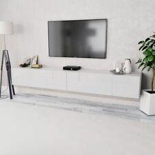 vidaXL 2x TV Cabinets Chipboard 120x40x34cm High Gloss White Storage Stand