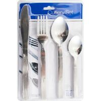 STYLISH KITCHEN STAINLESS STEEL CUTLERY SETS CHOICE OF 16,24 PIECE SETS