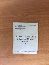 GRENADE ANTI-CHAR A FUSIL DE 73 mm modèle 1950 guide technique sommaire