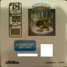 Legendary Jet Vac Skylanders Giants Sticker/Code Only!