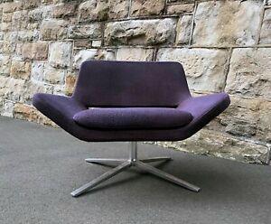 B&B Italia Metropolitan Armchair by Jeffrey Burnett in Purple