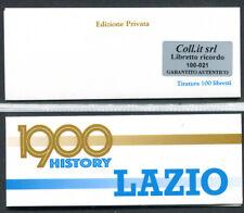 Libretto carnet privato 120° Anniversario Lazio con codice a barre