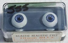 GLASTIC Realistic DOLL EYES - 10 mm - BLUE  - NOS
