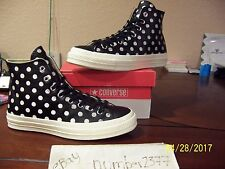 NEW Converse All Star 70 Hi Black leather Polka dots size 11