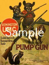Antique Repro Advertising Photo Print Remington Cubs Umc Pump Rifle