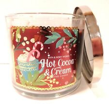 BATH & BODY WORKS HOT COCOA & CREAM SCENTED CANDLE 3 WICK 25-45 HOUR 14.5oz NEW!