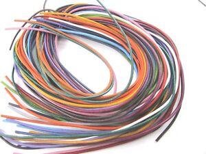 Paket 25 Lederriemen 2 mm Lederbänder je 1 m lang *gemischte Farben* Rindsleder