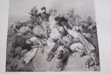 ALGERIE COMBAT DE SICKAK ORAN 1836 GRAVURE 1838 VERSAILLES R1617