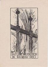 Ex-libris Giorgio DIECI - Modène - Modena (Italie) - 20e siècle.