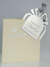 Personalised Bookmark - FREE Engraved - WEDDING Birthday XMAS GIFT