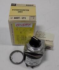 Allen Bradley Potentiometer Unit 800T-U91 Ser. P Nib