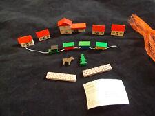 NEW NOS Erzgebirge Miniature Putz 14 pc Village With Railway Station Germany